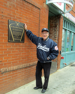 Bruce Hellerstein at his National Ballpark Museum in Denver.