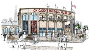 renderings of the Chicago Baseball Museum: Entrance