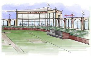 renderings of the Chicago Baseball Museum - Fletcher Field