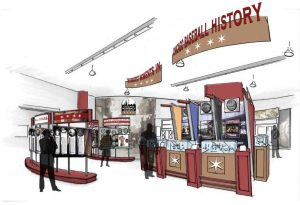 renderings of the Chicago Baseball Museum: Gallery