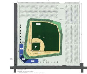 renderings of the Chicago Baseball Museum: Site-Plan