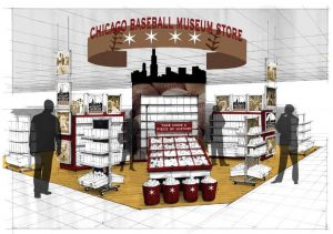 renderings of the Chicago Baseball Museum: Store