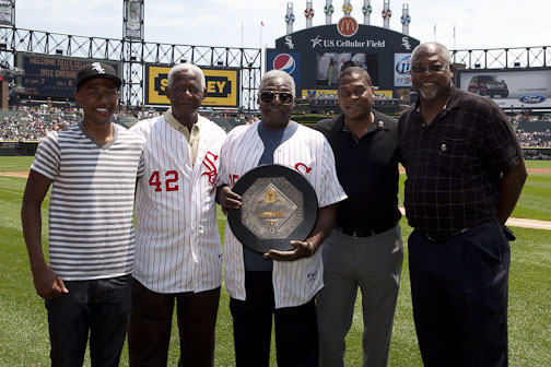 The Allen Family in June 2012 at the Dick Allen Tribute, Hank Allen is pictured 2nd to the left. Photo courtesy of Dr. David Fletcher, M.D.