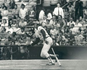 "Dick Allen blasts pinch hit ""Chili Dog"" walk-off home run in June 1972 against the Yankees. Photo courtesy of Leo Bauby from the Chicago Daily News collection,"