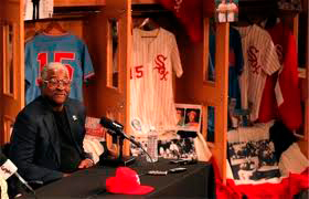 Dick Allen reminisces about the 1972 team at an historic news conference on Monday, May 11.