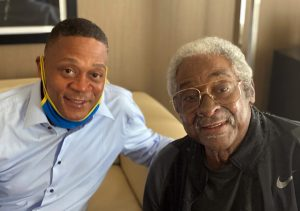 Dick Allen and his son Richard Allen, Jr. the morning of Dick's #15 Retirement Ceremony.