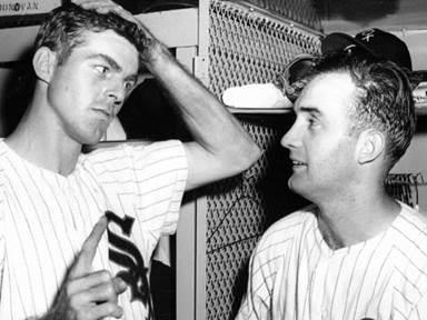 "Jim Landis (left) and pitcher Billy Pierce were mainstays of the ""Go-Go"" Sox."