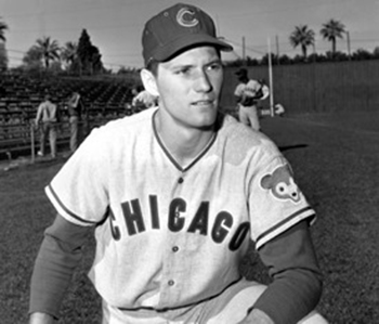 Kenny Hubbs in spring training. Hubbs and Brock were brought up at the same time in Sept. 1961. But although Hubbs was just 19, he had three years' minor-league experience to Brock's one.
