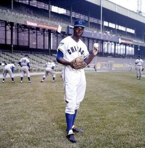 Lou Brock in the Polo Grounds, where in 1962 he slugged a 460-foot homer to center.