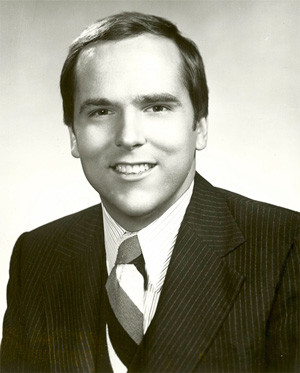 Tom Skilling, then in his 20s, appreciated Jack Brickhouse welcoming him to WGN as the new weather forecaster in 1978. Photo credit Robert Feder.