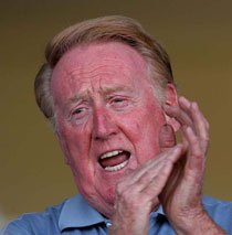 Vin Scully recalls his own 'clock' calling no-hitters - This CBM vintage baseball podcast features 1995 conversation at Wrigley Field with Vin Scully