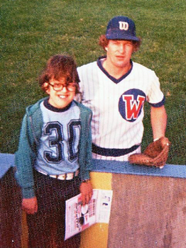 Young John Wroblewski visits Rick Stelmaszek in 1975 while he played for the Wichita Aeros, then the Cubs' Triple-A affiliate.