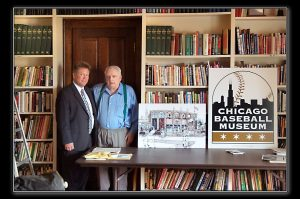 Dr. David Fletcher and Jerome Holtzman talk about the Jerome Holtzman Library and discuss plans for the Chicago Baseball Museum library and research center.